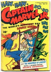 Captain Marvel Jr #117 1953- Horror crossover- Golden Age Fawcett VG