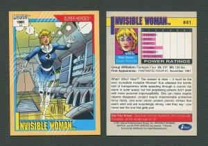 1991 Marvel Comics II  Card  #41 ( Invisible Woman )  MINT