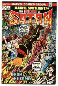 Marvel Spotlight #12 Origin of Son of Satan-comic book