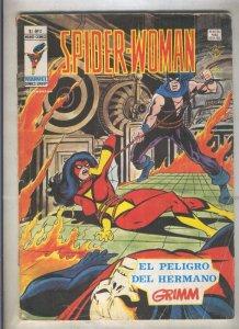 Spider Woman numero 02: El peligro del hermano Grimm (numerado 1 en trasera(