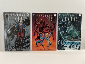 Superman  Aliens  #1 2 And 3 Complete Series  TPB