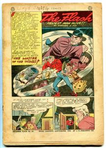 Flash #60 1944-Hawkman- Ghost Patrol- Golden Age coverless
