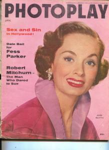 Photoplay-Ann Blyth-Fess Parker-Burt Lancaster-Dean Martin-Jan-1956