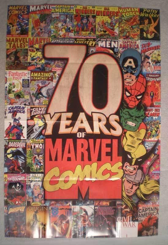 70 YEARS OF MARVEL COMICS Promo Poster, 2008, Unused, more in our store