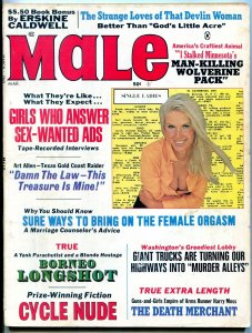 Male Magazine March 1969- Borneo Longshot- Cycle Nude FAIR