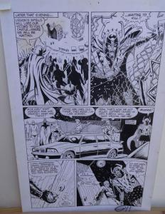 GREG HORN original art, FEMFORCE HOUSE OF HORROR #1 pg 4, Signed, Bad guys, 1989