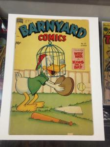 Barnyard Comics 31 VG-/VG  Final Issue Standard Comics Sept.1950
