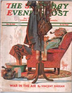 Saturday Evening Post 12/21/1940-Lydecer mailman cover-complete magazine-VG