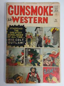GUNSMOKE WESTERN #75 (Atlas/Marvel 3/1963) POOR (PR) Stan Lee, Dick Ayers
