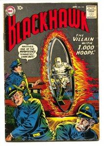 BLACKHAWK COMICS #135 1959-DC COMICS-VILLAIN WITH 1000 HOOPS G/VG