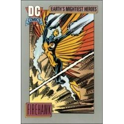1991 DC Cosmic Cards - FIREHAWK #49