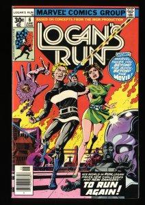 Logan's Run #6 NM+ 9.6 1st Solo Thanos!