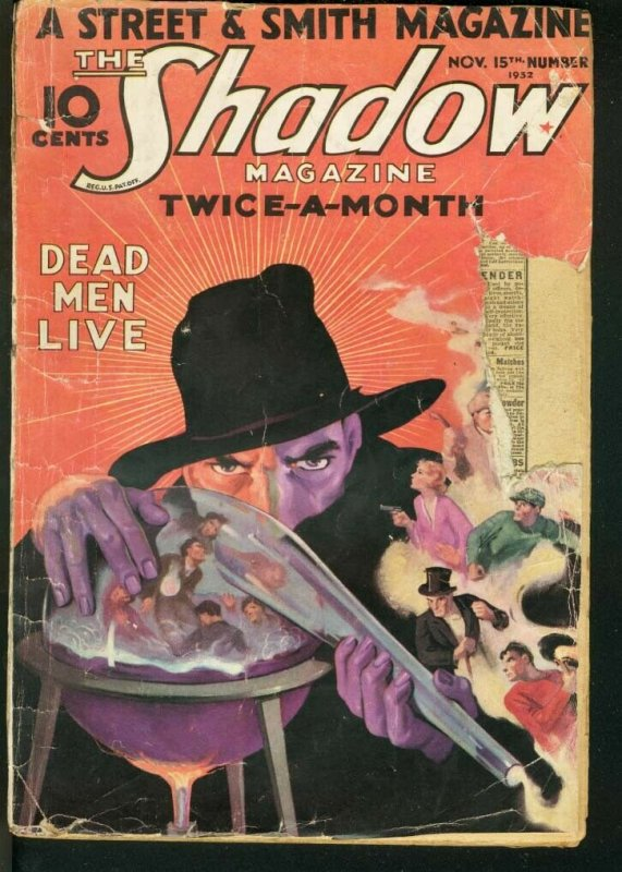 SHADOW 1932 NOV 15-STREET AND SMITH-RARE PULP FR