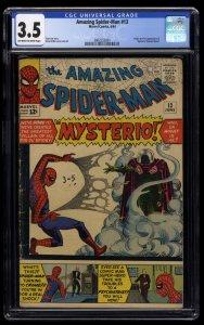 Amazing Spider-Man #13 CGC VG- 3.5 Off White to White 1st Mysterio!