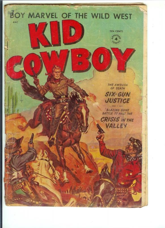 Kid Cowboy, #4 - Golden Age - (Good) April, 1954