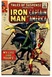TALES OF SUSPENSE #73 comic book-IRON MAN/CAPTAIN AMERICA-HI GRADE VF/NM