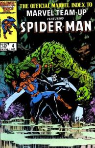 Official Marvel Index to Marvel Team-Up #4, NM- (Stock photo)
