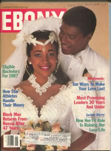 Ebony 6/1987-Eligible Bachelors-Black Man Returns from Russia After 47 Years-VG