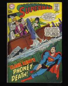 Superman #210 VG+ 4.5