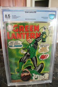 Green Lantern #59 (DC, 1968) CBCS VF+ 8.5 Off-white to white pages