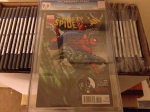 AMAZING SPIDER-MAN 654 CGC 9.9 ! NOT 9.8 MINT!!! FLASH AS VENOM DEATH OF MARLA