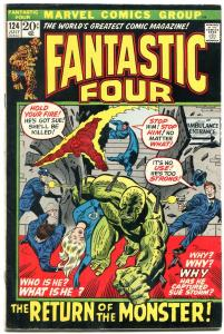 FANTASTIC FOUR #124-BRONZE AGE CLASSIC-HUMAN TORCH FN+