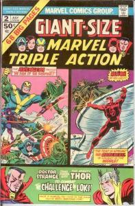 MARVEL TRIPLE ACTION GS  2 VF  July 1975 COMICS BOOK