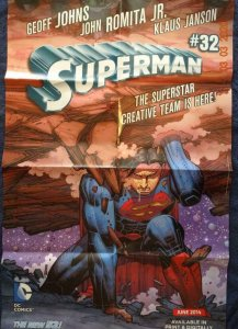 SUPERMAN #32  Promo Poster, 22 x 34, 2014, DC Unused more in our store 536
