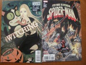 2 Comic: Vertigo WITCHING #5 (Mature) & PETER PARKER SPECTACULAR SPIDER-MAN #5