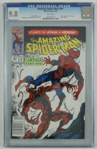 Amazing Spider-Man #361 CGC 9.8 - 1st full Carnage white pages newsstand variant