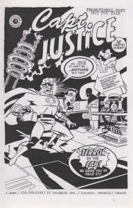 Capt. Justice Ashcan #1 VF; Slave Labor   save on shipping - details inside