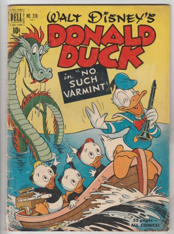 Four Color #318 (Jan-51) VG+ Affordable-Grade Donald Duck, Huey, Dewey, Louie