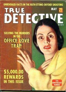 TRUE DETECTIVE MYSTERIES-MAY 1939-G/VG-HARD BOILED-MURDER-RAPE-POISON-N G/VG