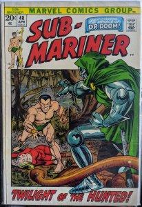 Sub-Mariner #48 (1972)DR. DOOM! HUGE FANTASTIC FOUR KEY!