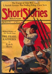 Short Stories Pulp November 25 1925- The Pearl Raiders- WC Tuttle VG