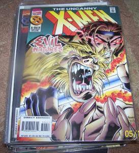 UNCANNY X-MEN #326   1995, Marvel sabertooth  gambit