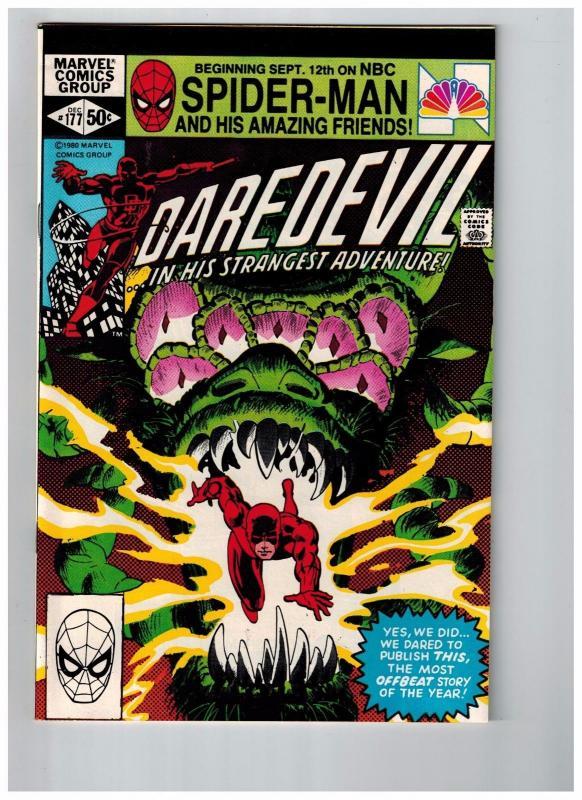 Daredevil # 177 NM Marvel Comic Book Frank Miller Elektra Bullseye Netflix HJ1