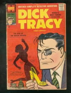 DICK TRACY #115 1957-CHESTER GOULD-HARVEY COMICS-GREED  G