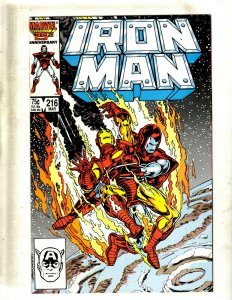 Lot of 12 Iron Man Comics #216 217 219 220 221 222 223 224 225 226 227 229 GB2