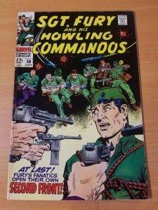 Sgt. Fury #58 ~ FINE - VERY FINE VF ~ (1968, Marvel Comics)