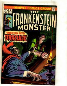 Monster Of Frankenstein # 8 VF Marvel Comic Book Mike Ploog Cover Horror RS1