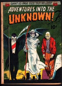 ADVENTURES INTO THE UNKNOWN #27-1952-vampire-zombie-death cover