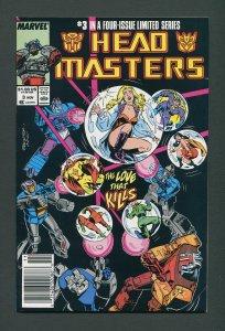 Transformers Headmaster #3  / 8.0 VFN   Newsstand  September 1987