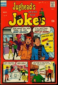 Jughead's Jokes #4 1968- Betty & Veronica mini skirt cover- Archie VG+