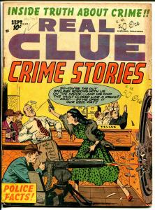 Real Clue Crime Stories Vol. 7 #7-1952-50 Caliber machine gun-crime-violence-VG-