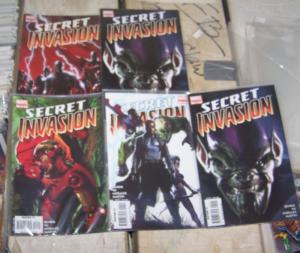 SECRET INVASION  # 1 2 4 5 5 MARVEL  BRIAN BENDIS