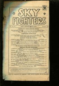 SKY FIGHTERS 02/1934-AIR WAR PULPS-WWI-ARTHUR J BURKS-MCALESTER-pr/fr
