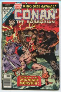 GIANT-SIZE CONAN #2 (4.5) Attack Of  The Midnight Monster! Bronze Marvel