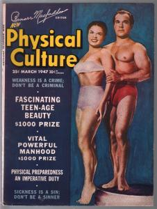 Physical Culture 3/1947-Female body builders-physique photos-FN-