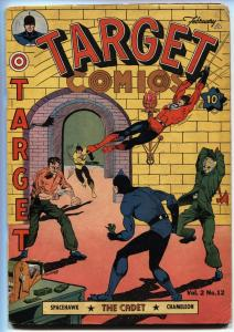 Target Vol 2 #12 Space Hawk by Basil Wolverton Targeteers Golden Age